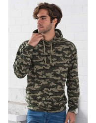 Férfi kapucnis pulóver terepszínű