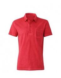 James & Nicholson Férfi chili színű galléros póló