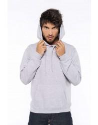 Férfi kapucnis polár pulóver