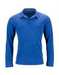 c252854e21 James & Nicholson Férfi kék galléros póló