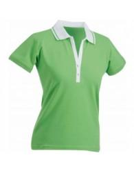 James & Nicholson Zöld Női elasztikus Piqué Polo