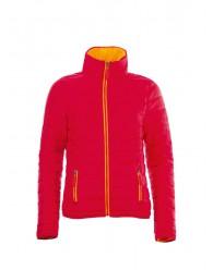 Női vékony dzseki piros színű